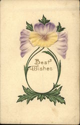 Best Wishes - Purple & Yellow Pansies