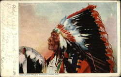 Profile of Yellow Wolf - Indian Chief