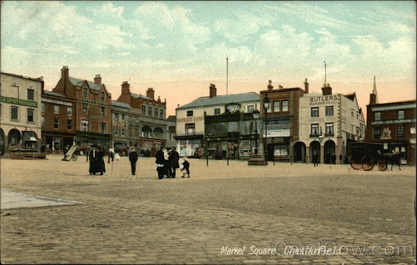 Market Square Chesterfield England