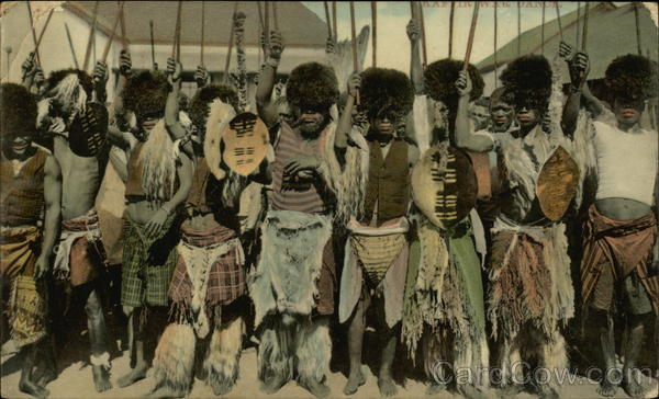 Men in Tribal Costumes South Africa