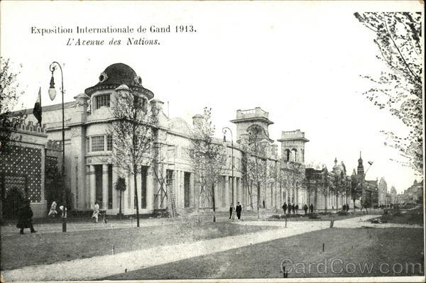 Exposition Internationale de Gand 1913 - L'Avenue des Nations