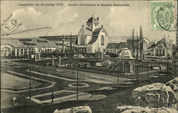 Exposition of 1910 - Jardin Hollandais et Section Allemande Brussels Belgium