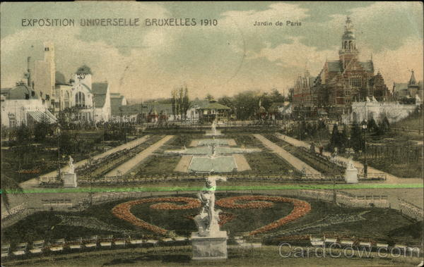 EXposition of 1910 - Jardin de Paris Brussels Belgium