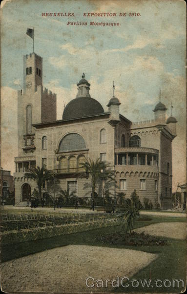 Exposition of 1910 - Pavilion Monegasque Brussels Belgium