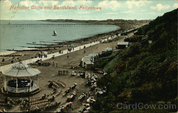Hamilton Cliffs and Bandstand Felixstowe England