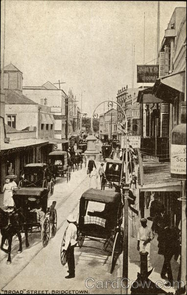 Broad Street Bridgetown Barbados Caribbean Islands