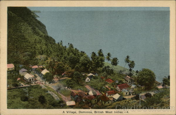 View of Village Dominica Caribbean Islands