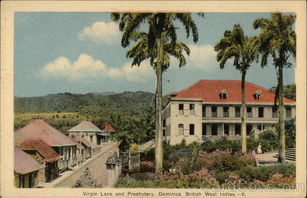 Virgin Lane and Presbytery Dominica Caribbean Islands