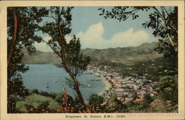 View of Kingstown Harbour St. Vincent Caribbean Islands