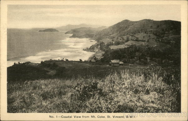 No. 1 - Coastal View from Mt. Coke, St. Vincent, B.W.I Saint Vincent and the Grenadines
