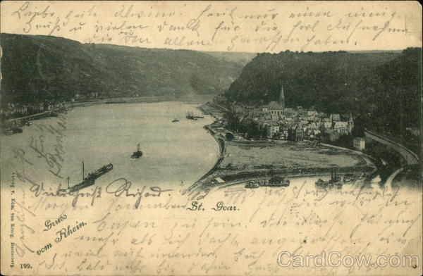 View of Town and River St. Goar Germany