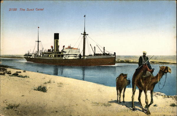 2158 - The Suez Canal Boats, Ships