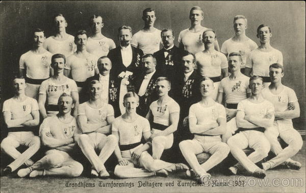 1907 Gymnastic Society Participants Trondheim Norway