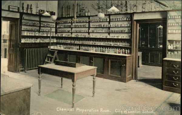City of London School - Chemical Preparation Room England