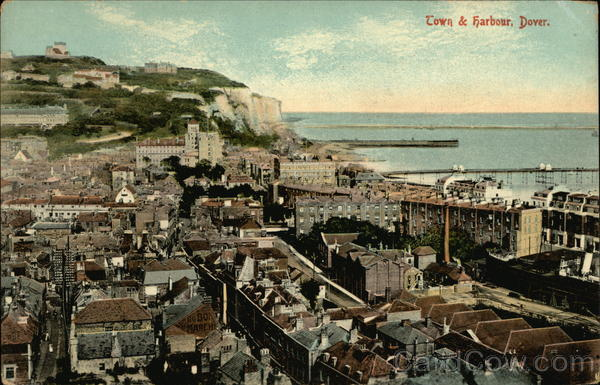 Town & Harbour Dover England Kent