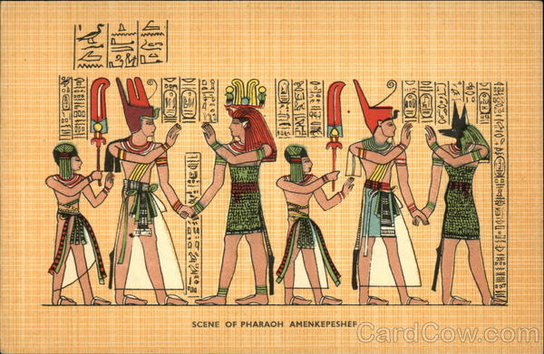 Scene of Pharaoh Amenkepeshef Egypt Africa