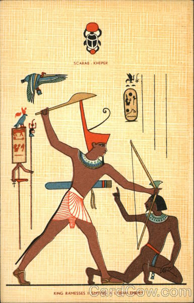 King Ramesses II Smiting A Lybian Enemy Egypt Africa