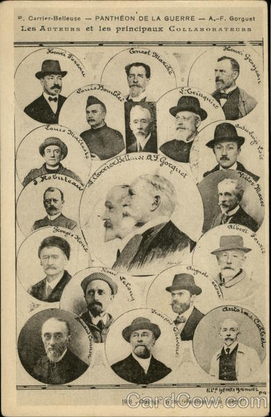 1918 Auguste François Gorguet and other Artists/Writers France