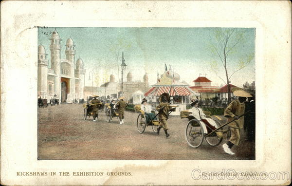 Franco-British Exhibition - Rickshaws in the Exhibition Grounds