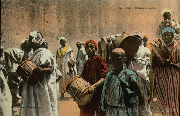 84. - Fez. - Musiciens arabes Fes Morocco Africa