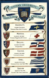 Oxford University Flags and Coats-of-Arms Postcard