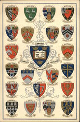 Coats-ofArms of Oxford Colleges Postcard