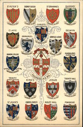 Coats-of-Arms - Colleges of Oxford University Postcard