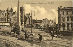 Market Square from Town Hall Postcard