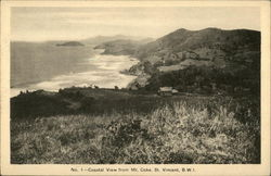 No. 1 - Coastal View from Mt. Coke, St. Vincent, B.W.I
