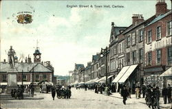 English Street & Town Hall Postcard
