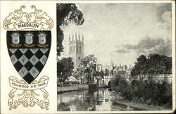 Magdalen College - Oxford University Postcard