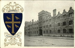 University College Blazon and Front Quad Postcard