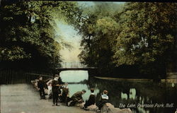 The Lake, Pearsons Park Postcard