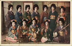 Twelve Japanese Geisha Girls