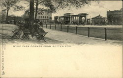 Hyde Park Corner from Rotten Row Postcard