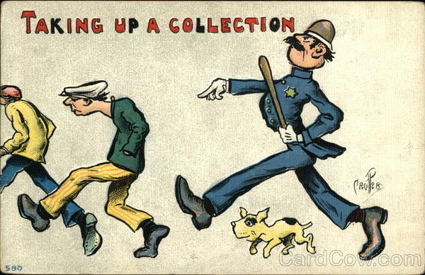 Taking up a Collection P. Crosby Comic, Funny Police
