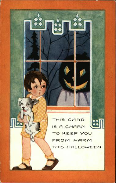 This Card is a Charm to Keep You from Harm this Halloween