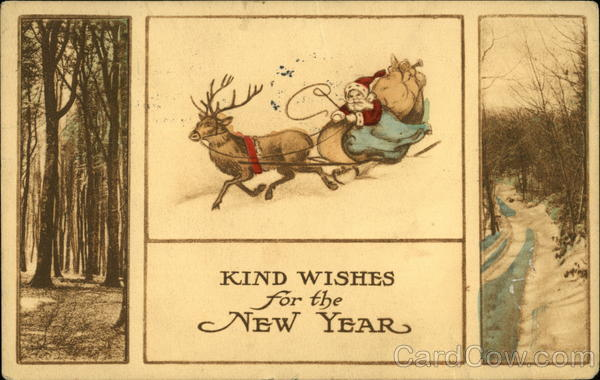 Kind Wishes for the New Year Santa Claus