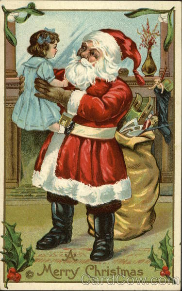 A Merry Christmas with Santa and Doll Santa Claus