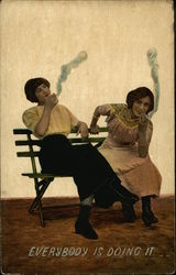 Everybody is Doing it - Women Smoking Cigarettes