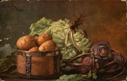 Still Life of Potatoes, Cabbage and Beets
