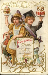 Thanksgiving Menu, Entree, Health a la Wealth, Prosperity, Garnished with Joys