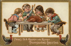 Here's to a Rough and Ready Thanksgiving Greeting