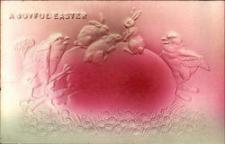 A Joyful Easter - Embossed with Egg, Chicks and Bunnies