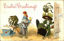 Easter Greetings! with Rooster & Hen Family