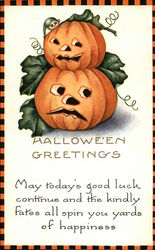 Halloween Greetings with Jack O'Lanterns