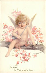 Beware! St. Valentine's Day with Cupid and Flowers