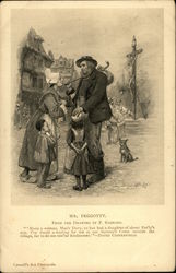 Scene From David Copperfield - Mr. Feggoty Greeting Family With Christ on Cross