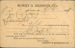 Rumsey & Sikemeier Co., St. Louis, Mo., 1896