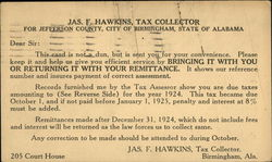 Tax collection card from 1924